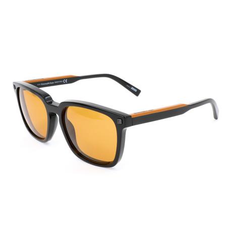 Men's EZ0119 Sunglasses // Shiny Black + Brown