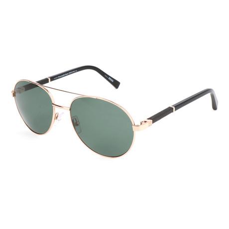 Men's EZ0013 Polarized Sunglasses // Shiny Rose Gold + Green