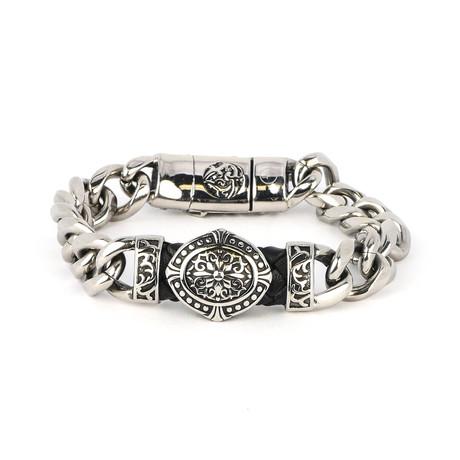 Dell Arte // Steel Swirl Bracelet // Silver