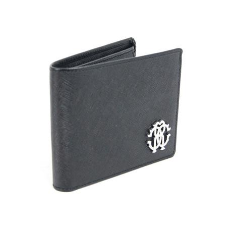 Textured Bi-Fold Wallet // Black