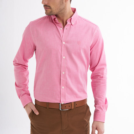 Emilio Button-Up Shirt // Light Red (S)