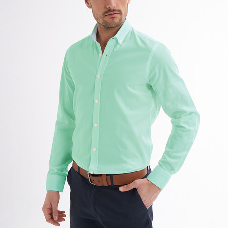 Emilio Button-Up Shirt // Mint (S)