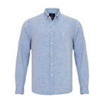 Ric Linen Button-Up Shirt // Baby Blue (XL)