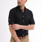 Ric Linen Button-Up Shirt // Black (2XL)