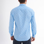 Tommaso Button-Up Shirt // Baby Blue + White (L)