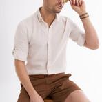 Ric Linen Button-Up Shirt // Beige (L)