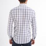 Emesto Button-Up Shirt // White + Navy (M)