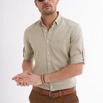 Ric Linen Button-Up Shirt // Khaki (M)