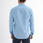 Ric Linen Button-Up Shirt // Light Blue (L)