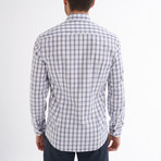 Maximo Button-Up Shirt // White + Navy (L)