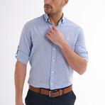 Ric Linen Button-Up Shirt // Baby Blue (L)