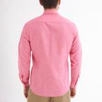 Ric Linen Button-Up Shirt // Pink (M)