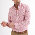 Lauro Button-Up Shirt // White + Light Red (2XL)