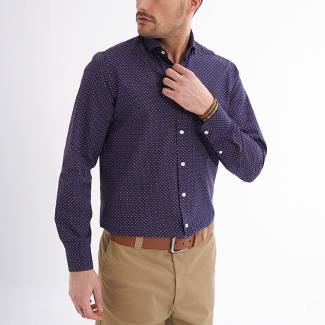 Montay Button-Up Shirt // Red (S)
