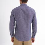 Ric Linen Button-Up Shirt // Light Navy (M)