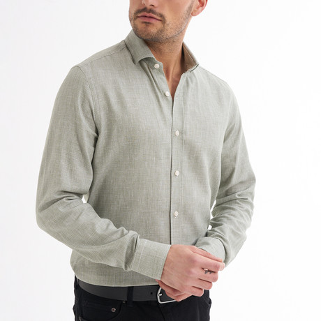 Paulo Linen Button-Up Shirt // Green (S)