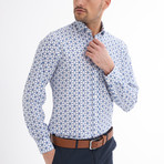 Fabien Button-Up Shirt // White + Navy (XL)