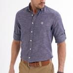 Ric Linen Button-Up Shirt // Light Navy (XL)