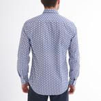 Gilberto Button-Up Shirt // White + Navy (L)