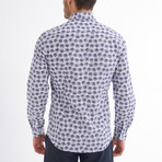 Gavino Button-Up Shirt // White + Navy (M)