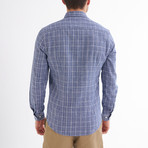 Paulo Linen Button-Up Shirt // Navy + White (L)