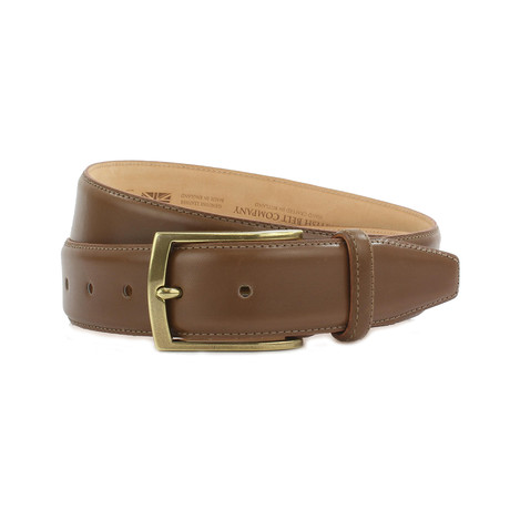"Carter Formal Calf Leather Belt // Oak (32"")"