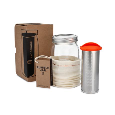 Rumble Jar // Sleek Mason Jar (Black)