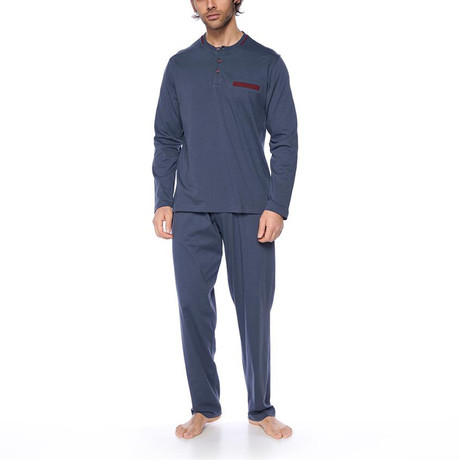 Long Sleeve Pajama Set // Anthracite (XS)