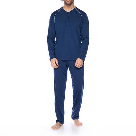 Shasta Pajama Set // Navy Blue (XS)