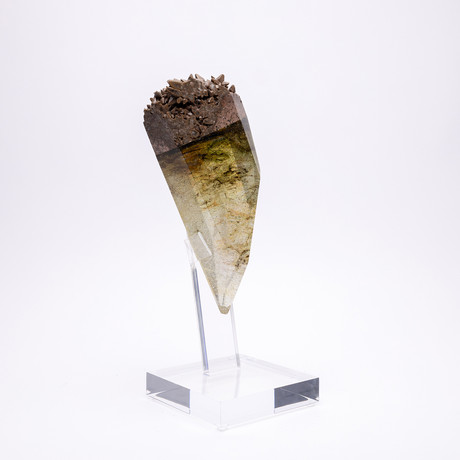 Kleat // Mexican Chocolate Calcite + Boiled Glass Fusion Sculpture