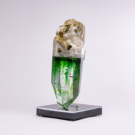 Tynt // Brazilian Quartz and Pink Tourmaline + Boiled Glass Fusion Sculpture