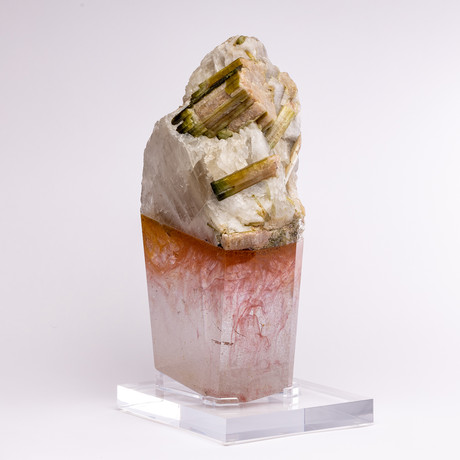 Rosé // Brazilian Quartz and Watermelon Tourmaline + Boiled Glass Fusion Sculpture