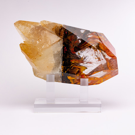Thor's Hammer // USA Calcite + Boiled Glass Fusion Sculpture