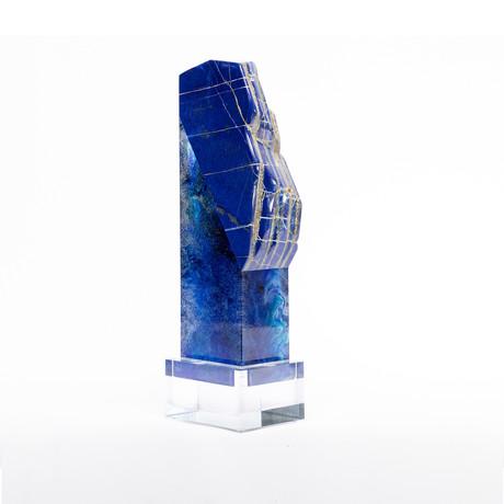 Lawyr // Lapis Lazuli + Boiled Glass Fusion Sculpture