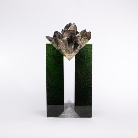 Totem // Moroccan Barite Crystals + Boiled Glass Fusion Sculpture