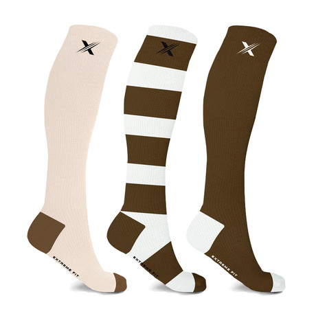 Unisex Sports Knee-High Compression Socks // 3-Pairs (Small / Medium)