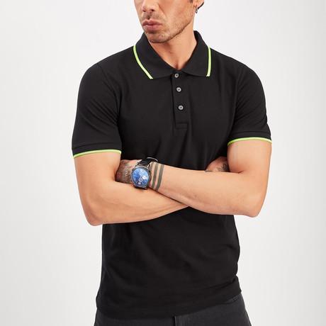 Polo Collar T-Shirt // Black (S)