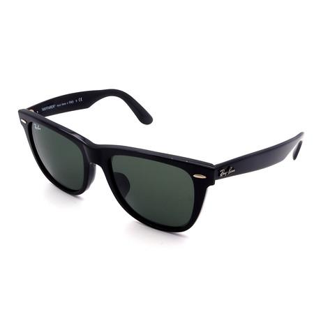 Unisex RB2140F-901 Wayfarer Sunglasses // Shiny Black