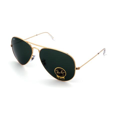 Unisex RB3026-L2846 Aviator Sunglasses II // Gold