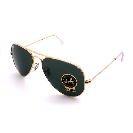 Unisex RB3025-W3234 Aviator Sunglasses III // Gold