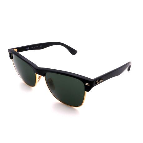Unisex RB4175-877 Oversized Clubmaster Sunglasses // Matte Black