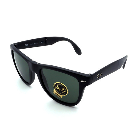 Unisex RB4105-601S Folding Wayfarer Sunglasses // Matte Black (Size 50-20-140)