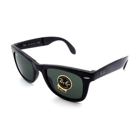 Unisex RB4105-601 Folding Wayfarer Sunglasses // Shiny Black (Size 50-20-140)