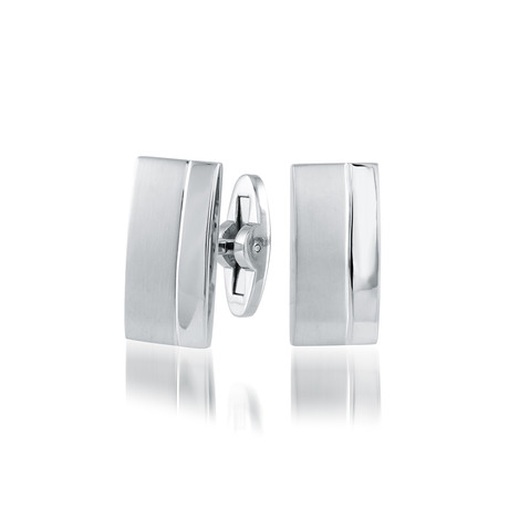 Brushed + Polished Cufflinks V1 // Stainless Steel