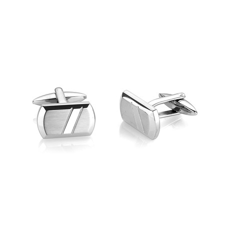 Brushed + Polished Cufflinks V2 // Stainless Steel
