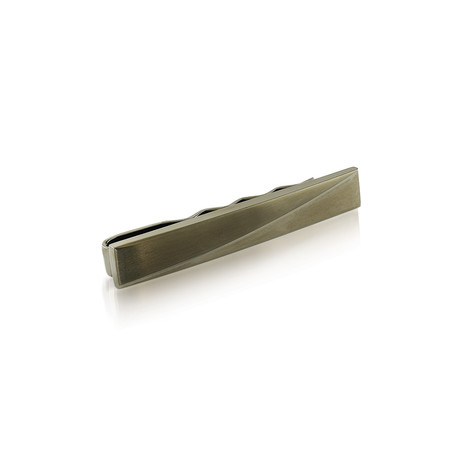 Brushed + Polished Tie Bar (Gunmetal)