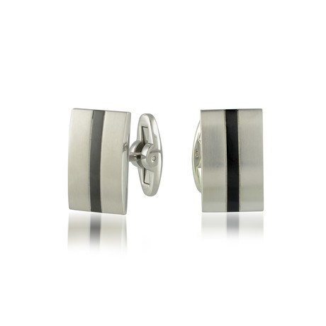 Brushed Cufflinks V3 // Black