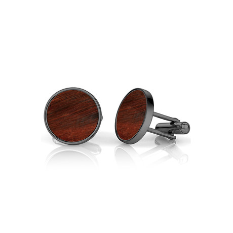 Tiger Eye Cufflinks // Black + Red