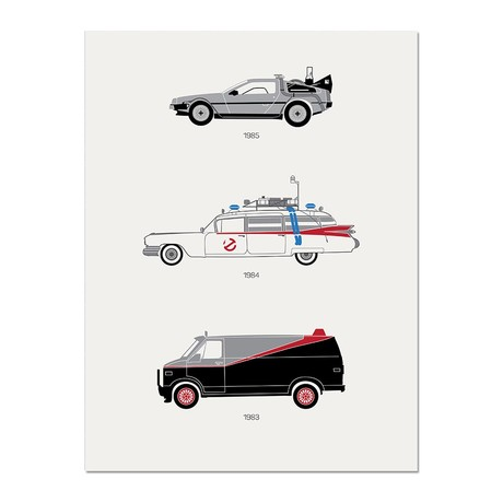 """A Radical Ride //  80's Movie Poster (12""""L x 16""""W x 0.5""""H)"""