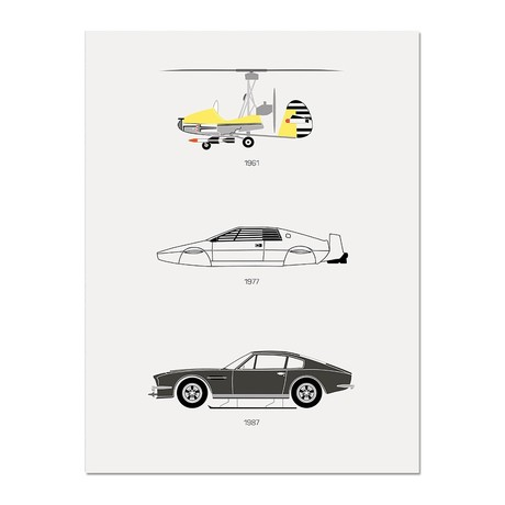 """Live and Let Drive // James Bond Poster (12""""L x 16""""W x 0.5""""H)"""
